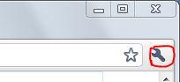 Chrome設定アイコン