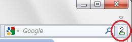 ページランクは検索窓の横にこのように表示されます